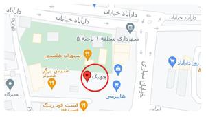 چوبیک روی نقشه گوگل